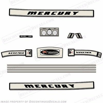 Mercury 1966 9.8hp Outboard Decal Kit - Reproduction Decals In Stock!