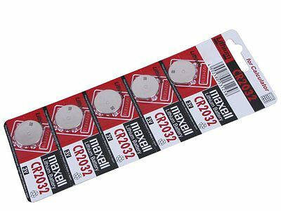 Maxell 5 X Genuine CR2032 3V Lithium Button/Coin Cells batteries Free UK