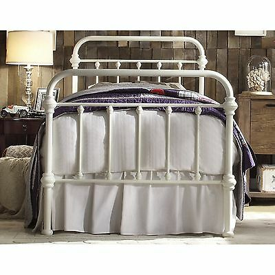 Antique White Iron Metal Bed Frame Set Twin Size Victorian French
