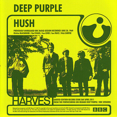"""7"""" DEEP PURPLE Hush Speed King RECORD STORE DAY 2011 Vinyl Limited Edition 45"""