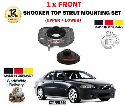 For Volvo S60 2000-2010 New Upper + Lower Front Shocker Top Strut Mounting Kit