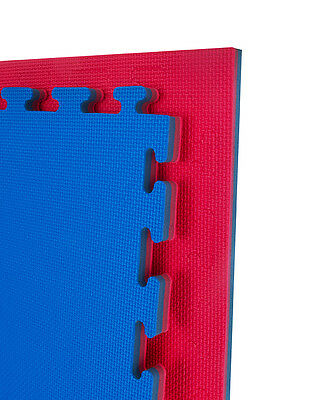 Martial Arts Jigsaw Mats 1m x 1m x 20mm Blue Red Taekwondo Kickboxing Karate MMA