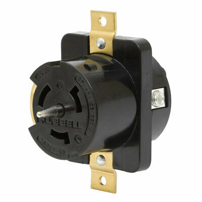 Hubbell CS-6369L 50-Amp 125/250-Volt 3-Pole 4-Wire Twist-Lock Receptacle