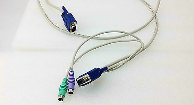 6Ft KVM Switch VGA HD15 Male to Male M-M PS2 DIN Mouse PC Keyboard Connect Cable
