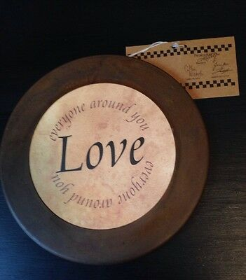 Primitives By Kathy Metal Sign Love Everyone Around You