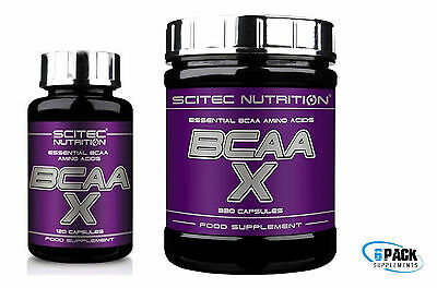 BCAA-X 120/330 Caps Essencial BCAA Amino Acids Scitec Nutrition + SAMPLE