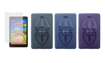 TPU Gel Skin Cover Case and Screen Protector for Dell Venue 8 3840 Tablet