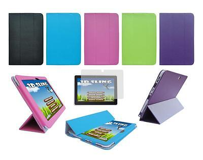 """Folio Skin Cover Case and Screen Protector for Le Pan 10.1"""" TC1020 Tablet"""