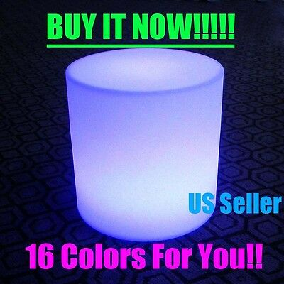 16'' 16 Colors LED Furniture Waterproof Stool Indoor/Outdoor Wireless Remote