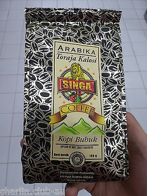 Singa Coffee Arabika Toraja Kalosi Indonesian Coffee Ground 180gr