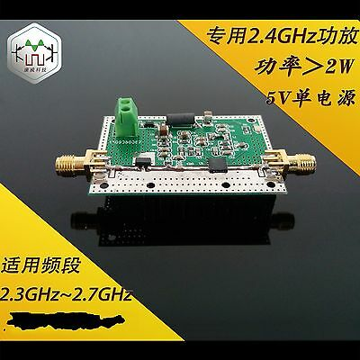 Applicable band 2.3G ~ 2.7G 2.4G single-supply amplifier power is greate than 2w