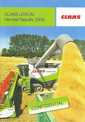 2008 Claas Lexion Combines Harvest Results Brochure