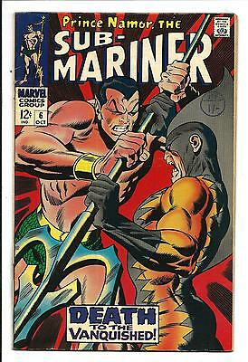 SUB-MARINER # 6 (Prince Namor, TIGER SHARK, OCT 1968), FN/VF