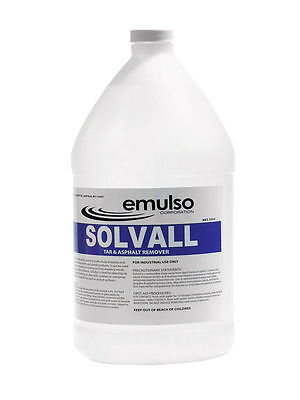 Solvall Sealer, Tar, Oil, Grease and Asphalt Remover - 1 Gallon