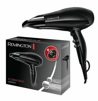 Remington Pro AC3300 2200W Hair Dryer Ionic Salon Hairdryer 3 Heat Settings NEW