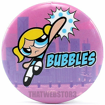 "The Powerpuff Girls Bubbles 1.25"" Button ~ Officially Licensed ~ NEW"