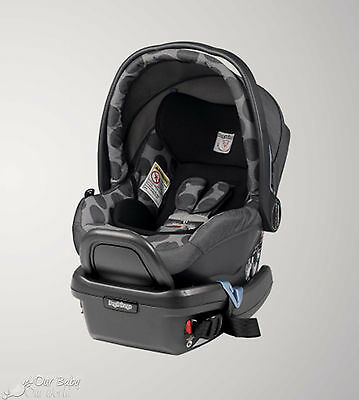 Peg Perego Primo Viaggio 4/35 Infant Car Seat with Base in Pois Grey New!!