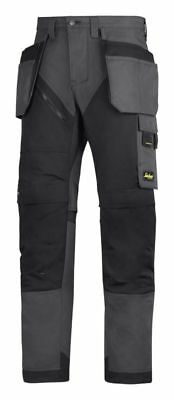 """Snickers 6203 RuffWork Work Trousers Holster Pockets Grey/Blk 36"""" Reg"""