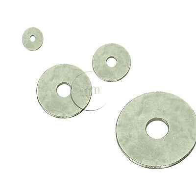 A4 MARINE GRADE STAINLESS STEEL Penny Washers M6 (6mm Internal Diameter)