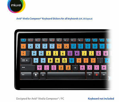 Avid Media Composer Keyboard Stickers | All Keyboards | QWERTY UK, US