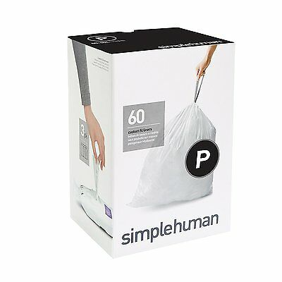 Simplehuman code/size P (50-60 litres) bin bag liner, CW0263 (Box of 60)