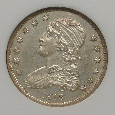 1833 Capped Bust Quarter NGC Certified MS 63