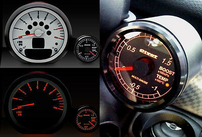 PIVOT X2-M5 Multi Gauge 2-in-1 OBD Boost/Water Temp. Gauge BMW Mini R55/56/57/60