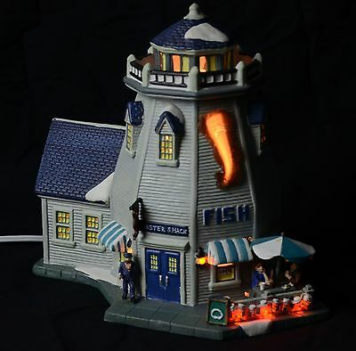 NEW Torn BOX 2006 Blue Waters Collection Lobster Shack Lighthouse Nautical boat