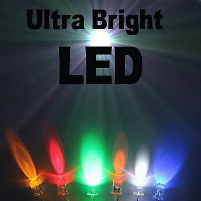 Ultra Bright LEDs 2.1mm/3mm/5mm/8mm/10mm All Colours UK Seller