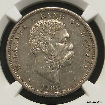1883 Kingdom of Hawaii Half Dollar NGC Certified AU DETAILS