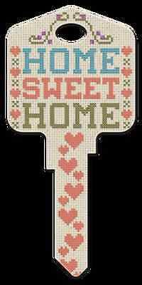 """"""" HOME SWEET HOME """" House Key KW Kwikset Country Version"""