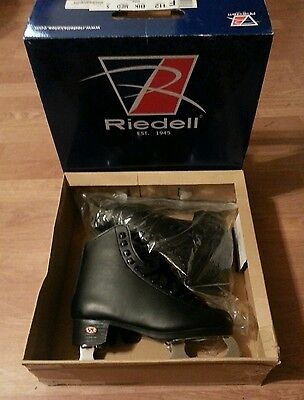 NEW Riedell Model 112 Black Med Width Size 5 Figure Ice Skates