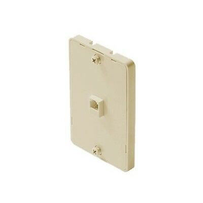 Modular Phone Jack Wall Plate Surface Mount 4 Wire Flush Telephone, Ivory