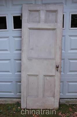 Antique Vintage 1880s Solid Wood 5 Panel House Door 83.75 x 31.25""