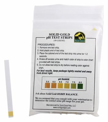 Solid Gold Urine pH test Strips To Check Pets With urinary issues 50ct