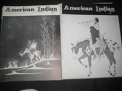 American Indian Crafts and Culture 10 issues from 1973  bk