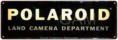 Polaroid Land Camera Dept. Vintage Look Reproduction 6x18 Metal 6180111