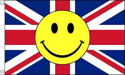 GIZZY® Union Jack Smiley Face 5' x 3' flag