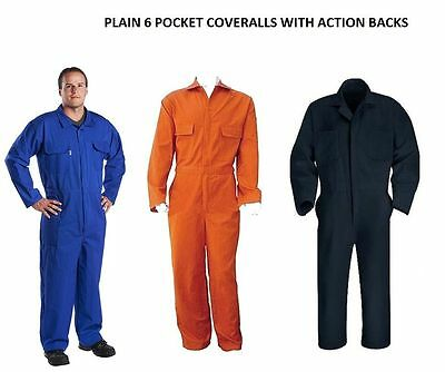Mens Orange Red Burgundy White Boiler suit Coveralls Overalls Mechanic Workwear