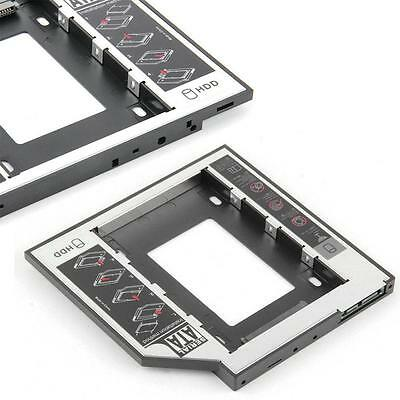 SATA 2nd HDD HD Hard Drive Caddy Case for 12.7mm Universal Laptop CD/ DVD-ROM FT