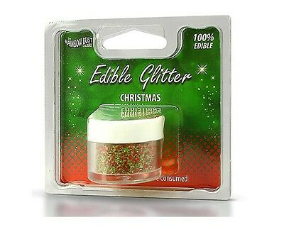 Rainbow Dust Edible Glitter - Christmas 5g, essbares Glitzerpulver