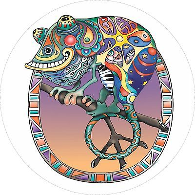 Phat Peace Lizard on Limb Spare Tire Cover Jeep RV Camper Trailer etc(all sizes)