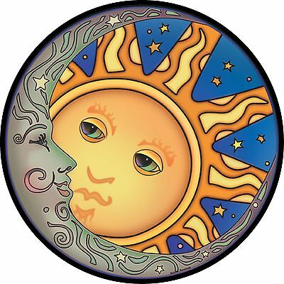 Sun Moon Spare Tire Cover Jeep RV Camper Trailer VW etc(all sizes avail)
