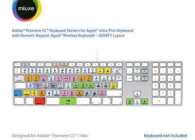 Adobe Premiere Pro CC Keyboard Stickers | Mac | AZERTY Français