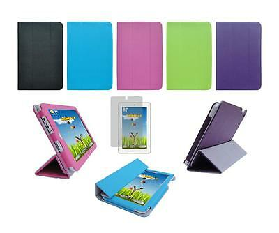 Folio Skin Cover Case and Screen Protector for HP 7 Plus 1302 / 1301 Tablet