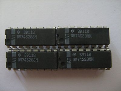 NATIONAL SEMICONDUCTOR DM74S288N Integrated Circuit 16-Pin - Lot of 4 / NEW!!
