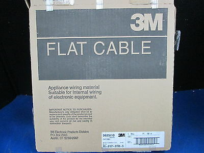 Flat Cable 3625/10 Conductor 3M 100 Ft. Roll 100 M80-6107-0733-5