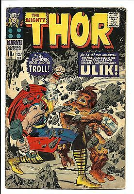 Thor # 137 (Kirby Art, 1St Ulik The Troll, Feb 1967), Vg