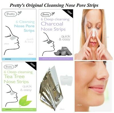 Pretty Nose Pore Strips Blackhead Removal Unclog Pores Smooth Deep Cleansing NEW