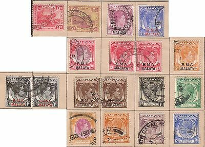 (JF-37) 1920-40 Malaya mix of 34stamps 1c to 50c